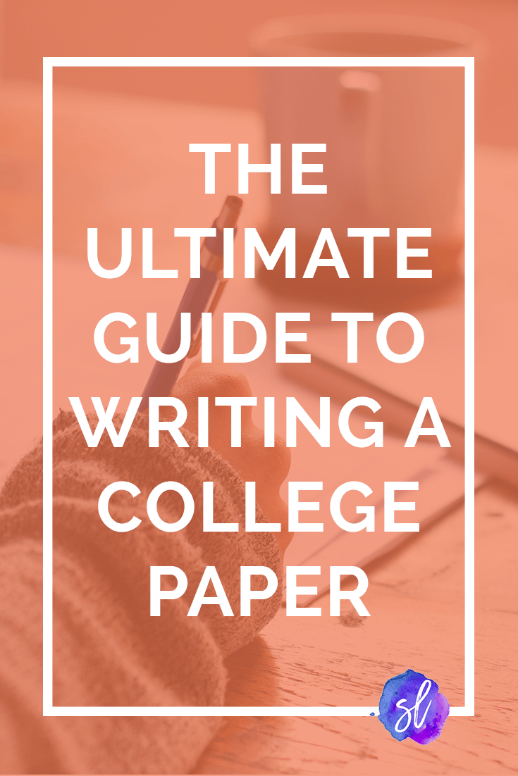 The updated and expanded ultimate guide to writing a college paper! From choosing your question to editing the final product, here's how to write a college paper. Save this pin and click through to read!
