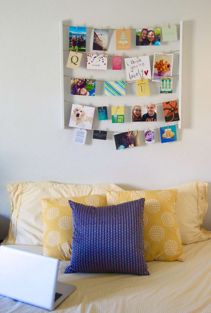 In light of the new semester starting up again, I thought it would be fun to walk you through four years of my dorm rooms, showing you what's changed and stayed the same.