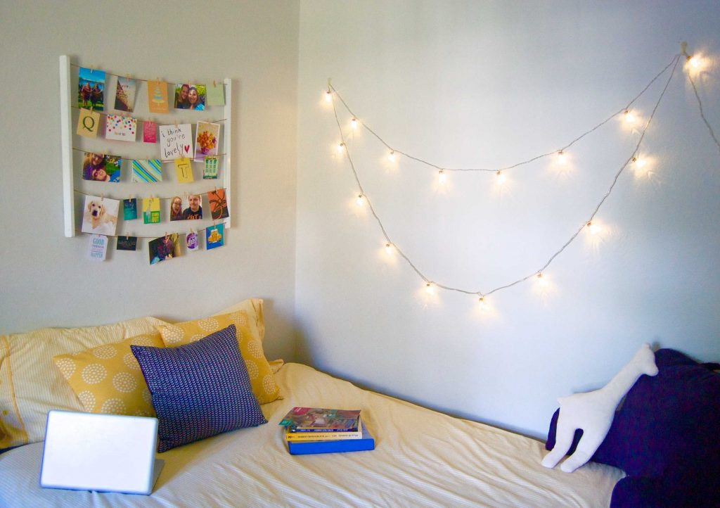My college room! By Sara Laughed