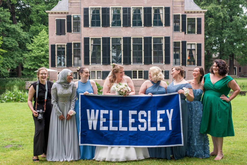 Me with my fellow Wellesley alums, including Shannon